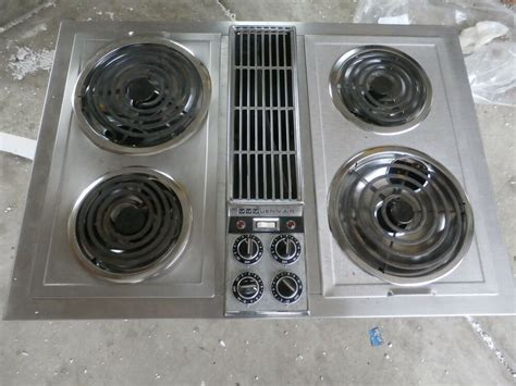 jenn air electric cooktop with grill jenn air c221 stainless downdraft cooktop with grill unit