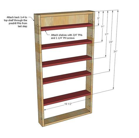 ana white build  door spice rack   easy diy