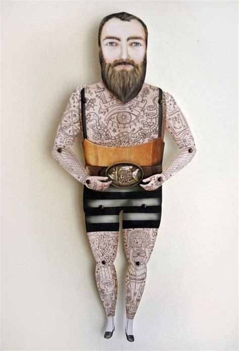 tattoo paper dolls victorian tattooed paper puppets design crush
