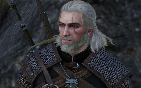 witcher 2 hairstyles green eyes for geralt at the witcher 3 nexus mods and