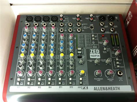 Mixer Allen Heath Zed 10fx allen and heath zed 10fx mixer