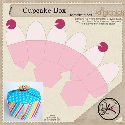 templates for cake boxes cupcake box template free download more at recipins com