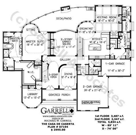 garrell floor plans casa de caserta 07194 house plans by garrell