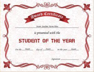 student of the year award certificate templates best 25 award certificates ideas on award