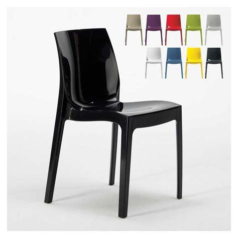 sedie in plastica economiche sedia in plastica lucida impilabile ed economica