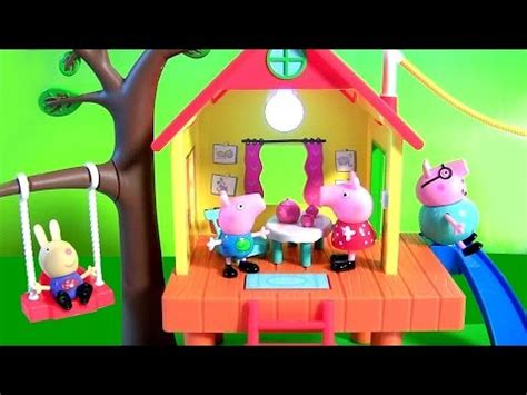 peppa pig swing peppa pig s treehouse and pig george s fort with zipline
