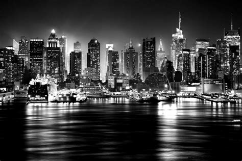 new york iphone wallpaper black and white skyline new york view black and white hd wallpaper