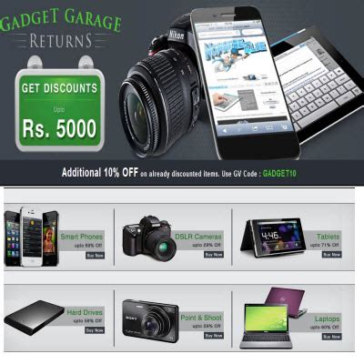 gadget garage gadget garage returns at tradus com upto 71 extra 10