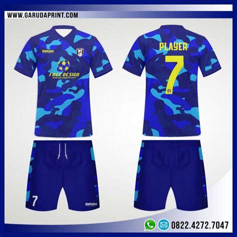 desain baju futsal biru buat jersey futsal desain sendiri garuda print jasa