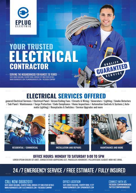 electrician flyer templates  premium