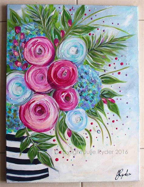 easy acrylic painting ideas flowers 25 best ideas about paint flowers on painting