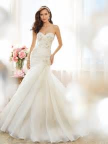 wedding dresses strapless sweetheart fit and flare wedding dress