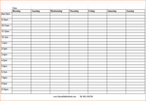 weekly schedule calendar template tunnelvisie