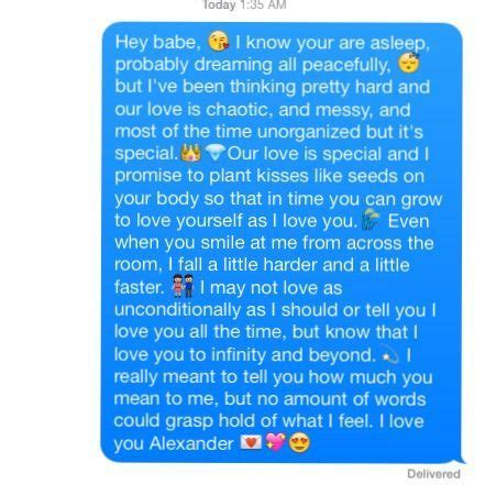 i know you re asleep but cute love text message