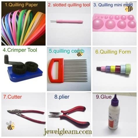 Paper Jewellery Tools - paper quilling jewelry basic tools and materials