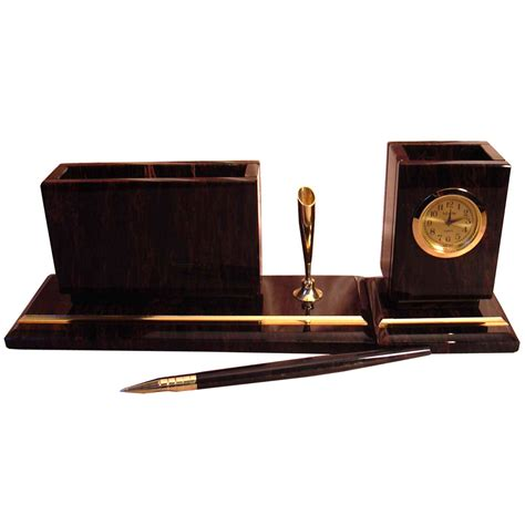small office desk organizer with paper tray clock pen holder