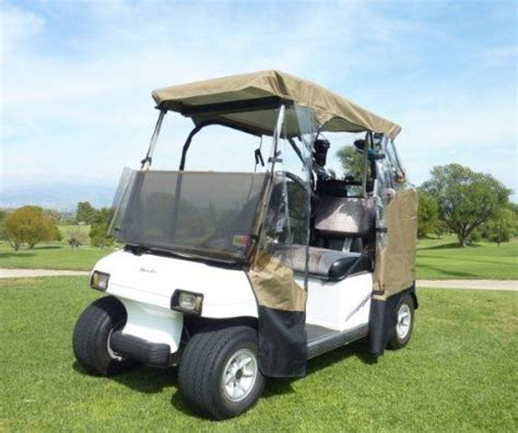 3 Sided Golf Cart Enclosures by 3 Sided Drivable Golf Cart Enclosure With Zippered Door