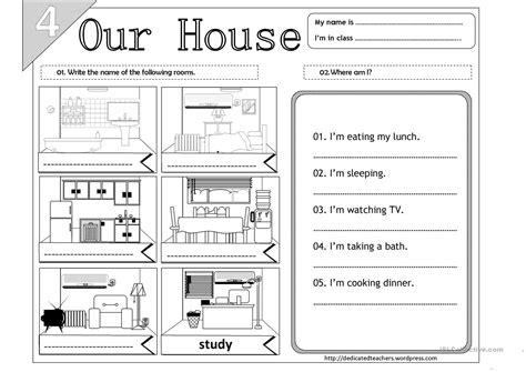 home design worksheet our house 04 worksheet free esl printable worksheets