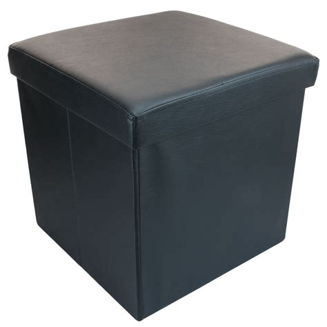 short ottoman small ottoman folding storage box foot rest with lid 38 x