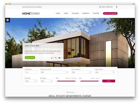 Top Ten Wordpress Themes For Real Estate Website Real Estate Listing Website Template