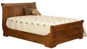 Oak Sleigh Bed by Amish Luxury Bedroom Set Rustic Panel Sleigh Bed