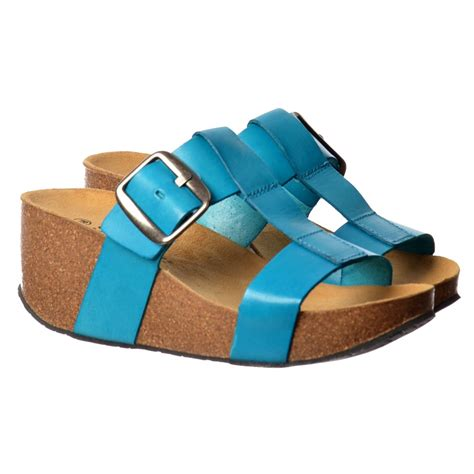 Sandal Wedges Wg15 1 sweet leather flip flop wedge sandal black turquoise sweet from onlineshoe uk