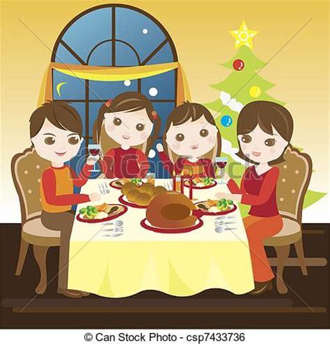 imagenes de una navidad en familia stock de ilustracion de cena teniendo familia navidad