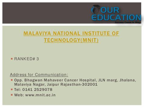 Malaviya National Institute Of Technology Jaipur Mba by Top 10 Engineering Colleges Of Rajasthan Like Bits Pilani