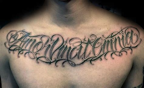 cursive tattoo fonts for men masculine script on with black ink on