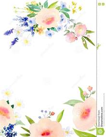 Watercolor Templates by Watercolor Flowers Card Template Stock Illustration