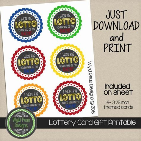 printable lottery tickets printable lottery gift card lotto gift by wyldpeasdesigns