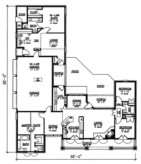 floor plans with in quarters house plan 98366 at familyhomeplans