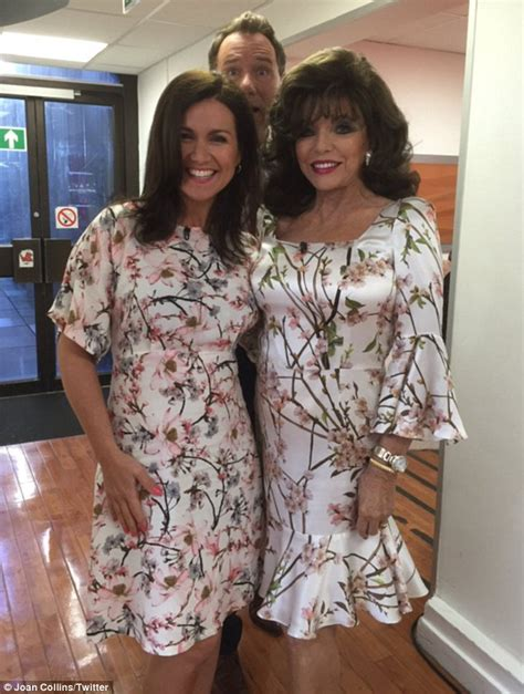 Gmb Blouse susanna clashes with joan collins in near identical dress on morning britain daily