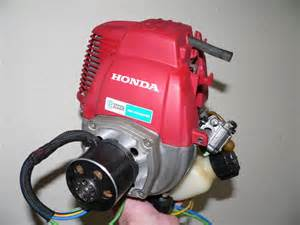 Small Honda Generator Solar Charging Whist Sunbathing At The And