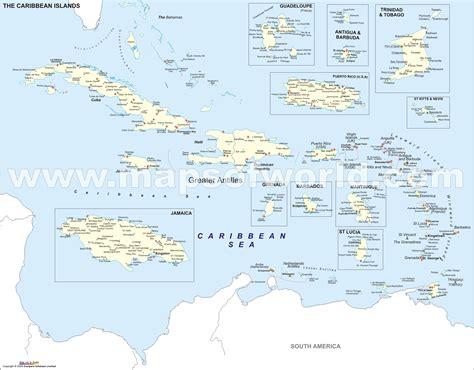 map of caribbean islands island caribbean islands map