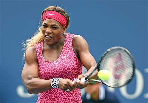 serena williams bench press serena williams has bigger biceps than you do the big lead