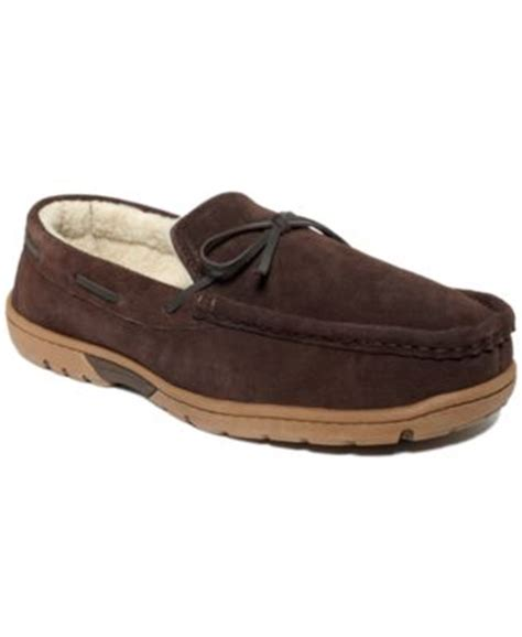 club room slippers club room s slippers suede moccasins shoes