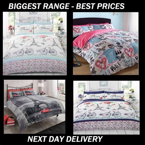 Eiffel Tower Quilt Cover Single by Eiffel Tower Style Licensed Duvet Bedding Cover