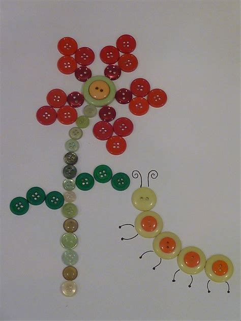 crafts with buttons for button craft crafts