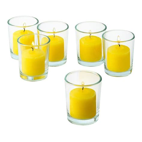 candele votive light in the clear glass votive candle holders