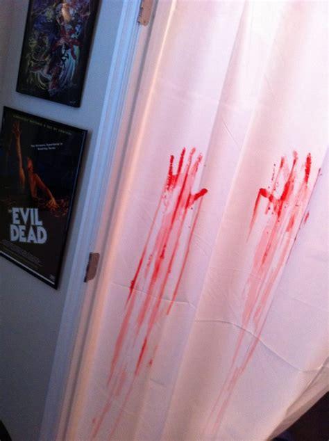 bloody handprint shower curtain bad mls photo bloody handprints shower curtain hooked on