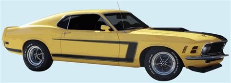phoenix graphix  mustang grabber decal kit