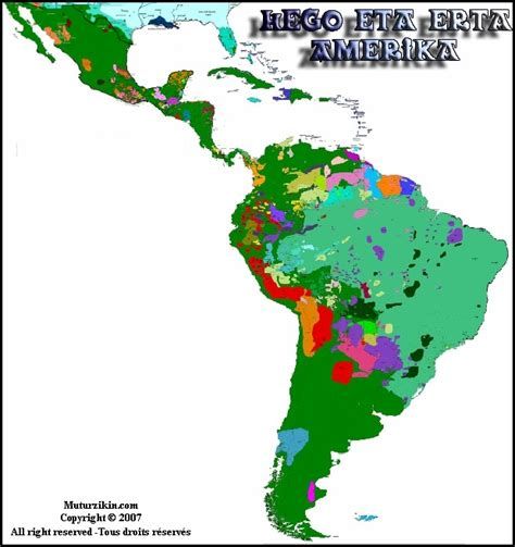 south america map by language detailed map of south america and central america