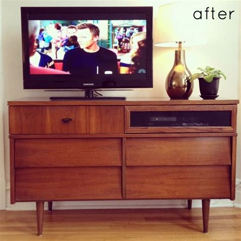 Converter By Console convert an dresser to media console they used wire