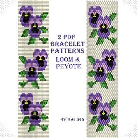 flower bead loom patterns purple flower bracelet pattern beading tutorial peyote