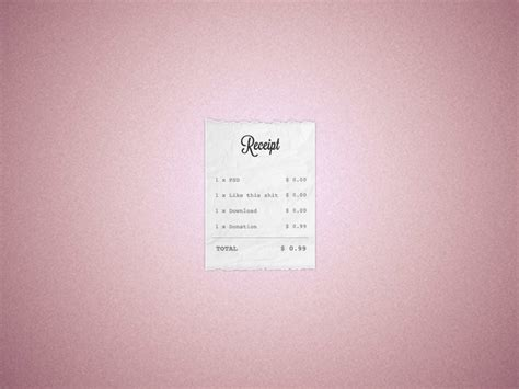 receipt template psd receipt template free psd file