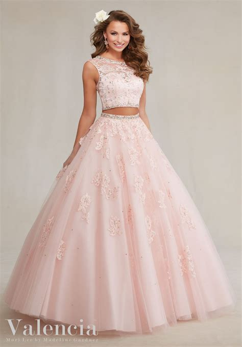 Syifa Basic Dress 15 quinceanera dress 89088 two tulle gown with beaded lace appliqu s dresses