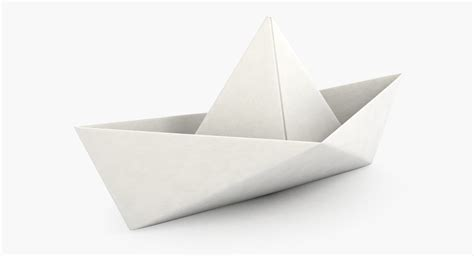 Boat From Paper - paper boat 3d max