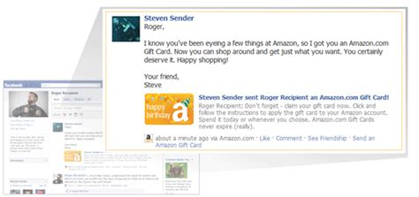 Send Gift Cards Through Facebook - amazon com gift cards in a greeting card with free one day shipping