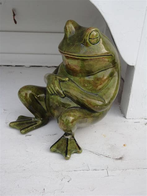 Frog Garden Decor Garden Frog Deck Decor Pinterest